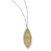 Leslies Sterling Silver Gold-plated D/C & Beaded Wire Wrap Necklace with 5.1cm ext