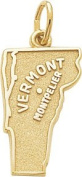 Rembrandt Charms Montpelier Vermont Charm, 10K Yellow Gold