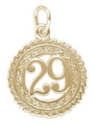 Rembrandt Charms Number 29 Charm, 10K Yellow Gold
