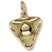 Rembrandt Charms Tri Corner Hat Charm, 10K Yellow Gold