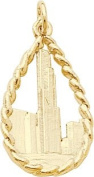 Rembrandt Charms Sears Tower Charm, 10K Yellow Gold
