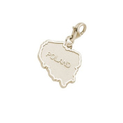 Rembrandt Charms Poland Charm with Lobster Clasp, 10K Yellow Gold