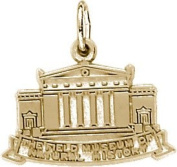 Rembrandt Charms Field Museum Charm, 10K Yellow Gold