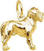 Rembrandt Charms Mastiff Charm, 10K Yellow Gold