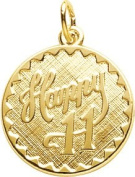 Rembrandt Charms 11th Birthday Charm, 10K Yellow Gold