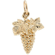 Rembrandt Charms Grapes Charm, 10K Yellow Gold