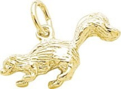 Rembrandt Charms Skunk Charm, 10K Yellow Gold