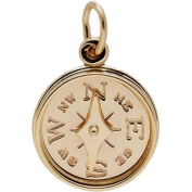 Rembrandt Charms Compass Charm, 10K Yellow Gold