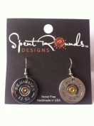 Earring 12 Gauge Single Dangle Silver Remington