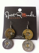 Earring 12 Gauge Double Dangle Silver/Gold Winchester
