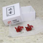Japanese lacquer art Ryukin(goldfish) earrings