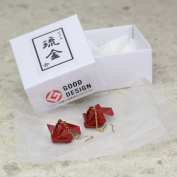 Japanese lacquer art Ryukin(goldfish) earrings