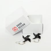 Japanese lacquer art Pinwheel earrings