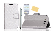 Tradekmk(TM) Leather Flip Stand Wallet Case for Samsung Galaxy S3 SIII i9300 +Screen Protector +Stylus