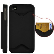 Credit Card Hard Case Cover For iPhone 4 and 4S Matte Black