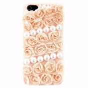 EVTECH(TM) 3D Handmade Rhinestong Lace Series Crystal Diamond Rhinstone Design Bling Case Clear Cover for iPhone 5