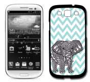 Tiffany Blue Chevron Elephant Samsung Galaxy S3 SIII i9300 Case Fits Samsung Galaxy S3 SIII i9300