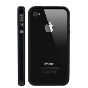 Silicone and Plastic Assembly Bumper for Verizon CDMA iPhone 4 - Black