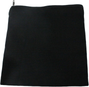 HomArt Canvas Zipper Square Bag, Black