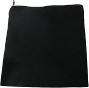 HomArt Canvas Zipper Square Bag, Black