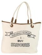 Santa Barbara Design Studio JKC Rope Handled Canvas Tote Bag, Some People Do Drugs-I Buy Shoes