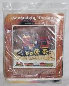 "Vintage 1976 Newstalgia Designs "" Locomotive "" Plastic Canvas Kit #503 - by Linda Palmer"