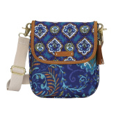 C.R. Gibson Dena Accessories Cross-Body Carry All, Indigo