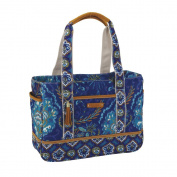 C.R. Gibson Dena Accessories Large Tote Bag, Indigo, 38cm by 29cm