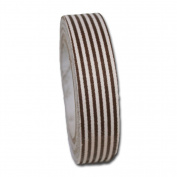 Maya Road FT2367 Fabric Tape, Stripes, Mocha Brown