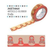 Shinzi Katoh Masking Tape -Sereno Doll Pattern