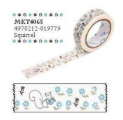 Shinzi Katoh Masking Tape -Sereno Squirrel Pattern