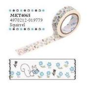 Shinzi Katoh Masking Tape -Sereno Squirrel Pattern
