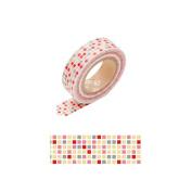 Japanese Washi Masking Tape -Tile Red