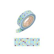 Japanese Washi Masking Tape -Tile Blue