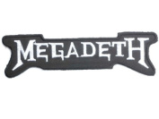 """MEGADETH Logo Iron On Sew On Embroidered Metal Band Patch 5""""/12.8cm x 1.4""""/3.5cm By MNC Shop"""