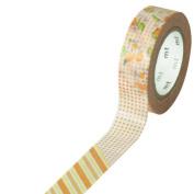 Japanese Washi Masking Tape - Patch Flower Orange