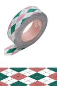 Japanese Washi Masking Tape - Argyle Pink