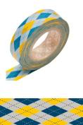 Japanese Washi Masking Tape - Argyle Yellow
