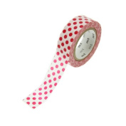 Japanese Washi Masking Tape - Red Polka Dots