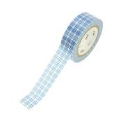 Japanese Washi Masking Tape - Grid Blue