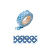 Japanese Washi Masking Tape -Cross Blue