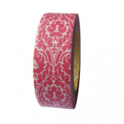 Dress My Cupcake DMC41WT641 Washi Decorative Tape for Gifts and Favours, Vintage Coral Damask