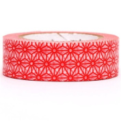 white mt Washi Masking Tape deco tape with red stars