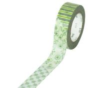 Japanese Washi Masking Tape - Patch Flower Green