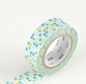 Japanese Washi Masking Tape - Tile Green
