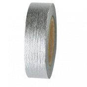 Dress My Cupcake DMC41WTMCsilver Washi Decorative Tape for Gifts and Favours, Solid Silver