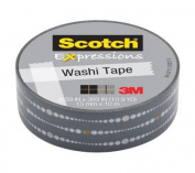 Scotch Expressions Washi Tape, .150cm x 1000cm , Grey Bubble Dots