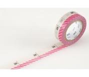 Japanese Washi Masking Tape - Number Pink