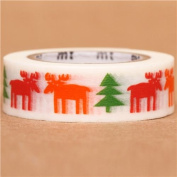 elk moose fir tree mt Washi Masking Tape deco tape