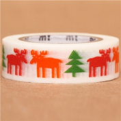elk moose fir tree mt Washi Masking Tape deco tape